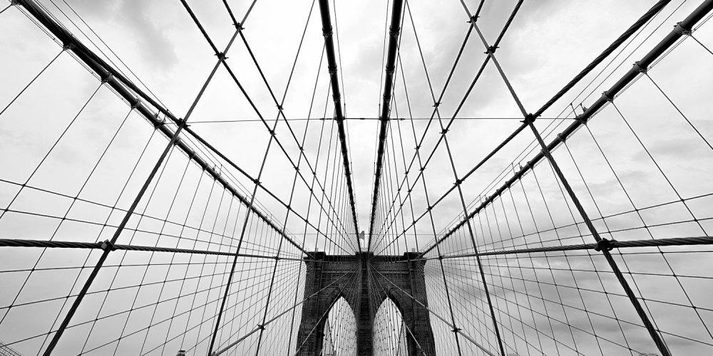 Brooklyn Bridge NY Black and White Photography