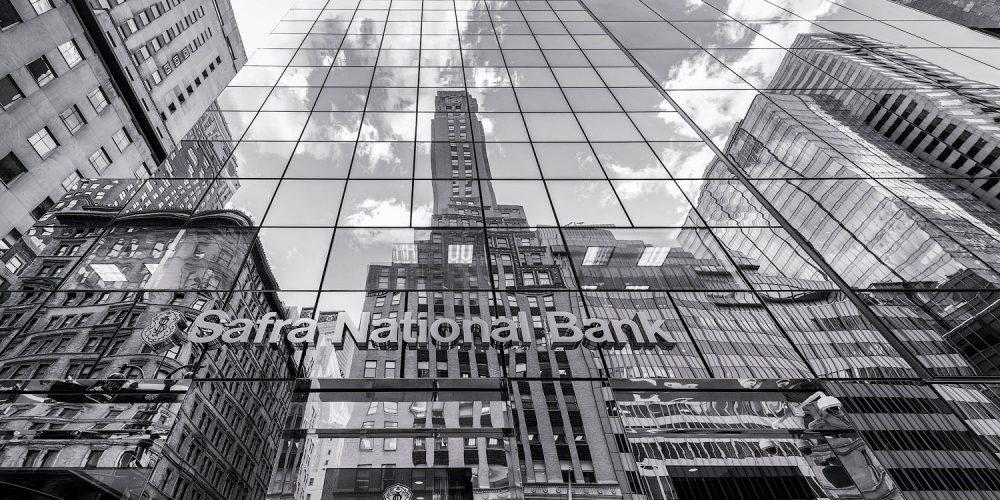 Safra National Bank New York City Black & White Photo